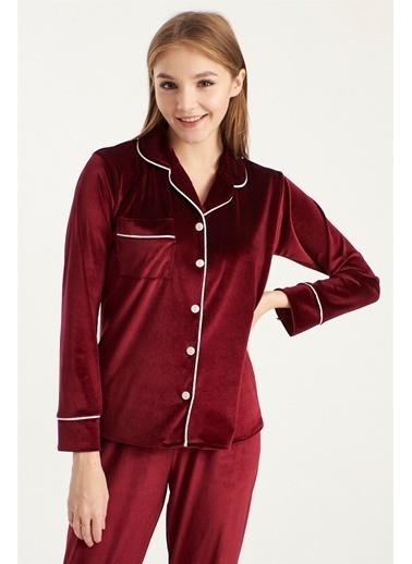 Z Giyim Kadife Pijama Takımı [3874] Bordo